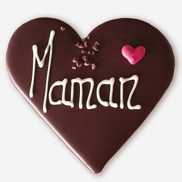"""Cœur """"Maman"""" praliné éclats..."""