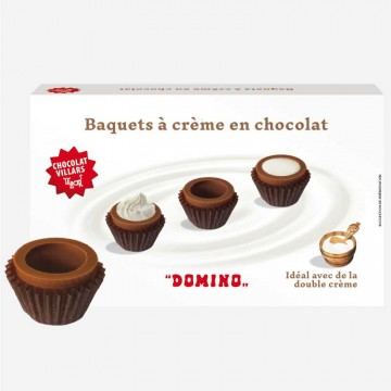 Baquets à crème en chocolat