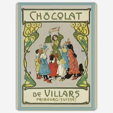 Villars Plakat aus Metall,...