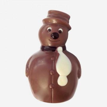Schneemann aus Milchschokolade