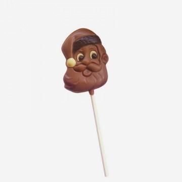 Sucette en chocolat Père Noël