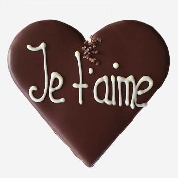 Mit dunkler Schokolade...