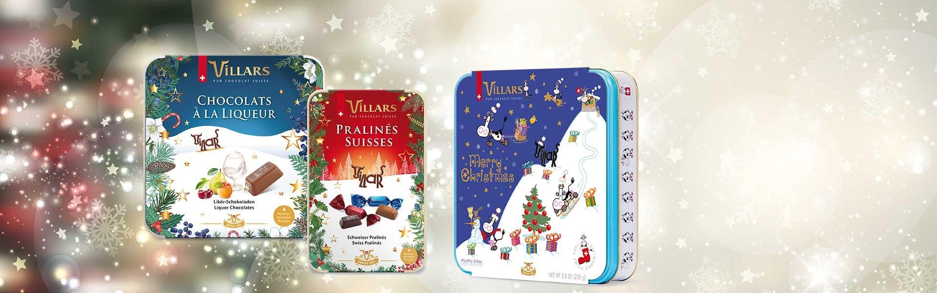 Villars Weihnachts-Editionen Geschenkdosen